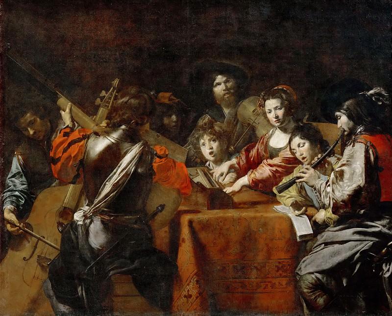 Valentin de Boulogne -- A Concert. Part 3 Louvre
