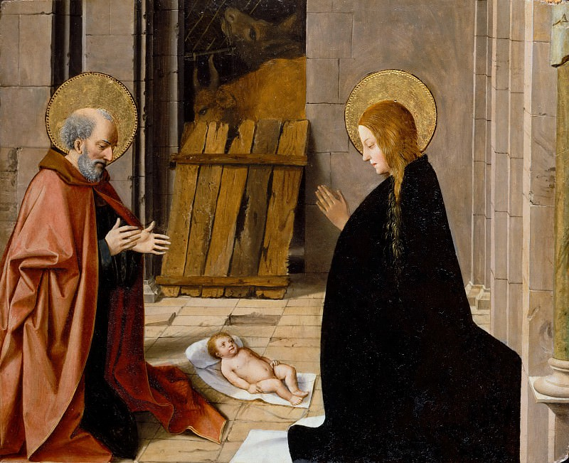 Josse Lieferinxe -- Adoration of the Child. Part 3 Louvre