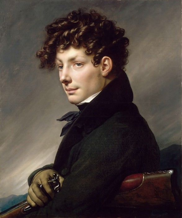 Anne-Louis Girodet de Roucy-Trioson -- Portrait of a Young Man as a Hunter. Part 3 Louvre