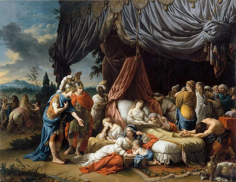 Лагрене, Луи-Жан-Франсуа (Париж 1725-1805) -- Смерть жены Дария. часть 3 Лувр