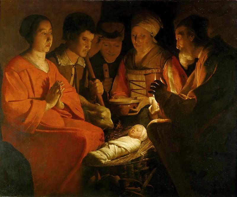 Georges de La Tour -- Adoration of the Shepherds. Part 3 Louvre