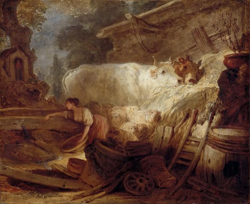 Jean-Honoré Fragonard -- Stable. Part 3 Louvre