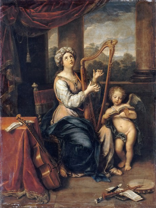 Pierre Mignard I -- Saint Cecilia singing the praises of the Lord. Part 3 Louvre