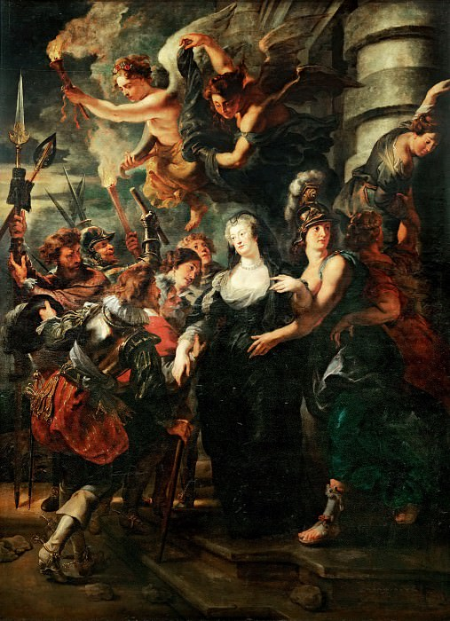 Peter Paul Rubens -- Medici Cycle: Queen Escapes from the Castle of Blois During the Night, February 22, 1619. Part 3 Louvre