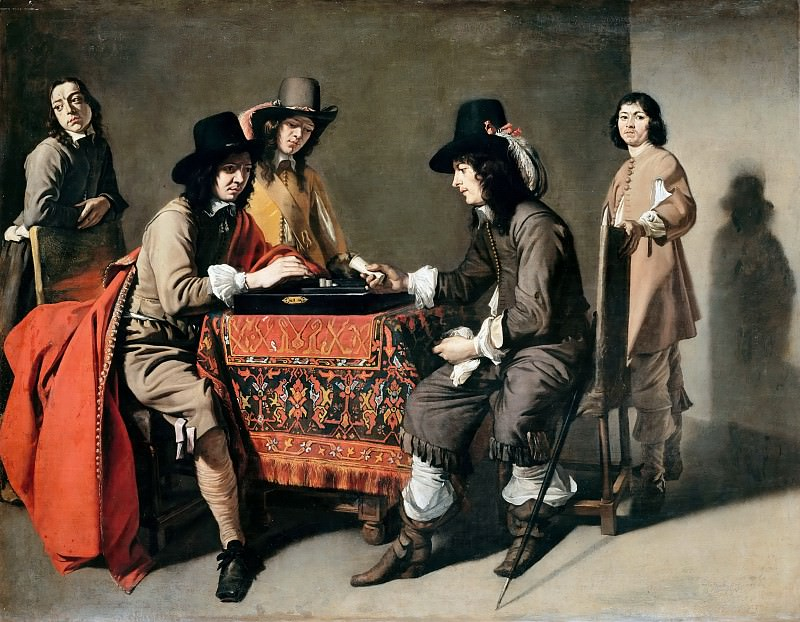 Attributed to Mathieu Le Nain -- Tric-Trac Players. Part 3 Louvre