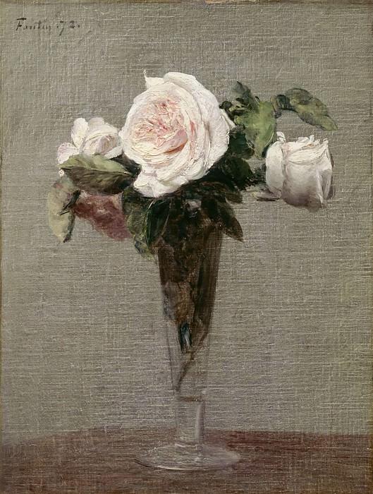Henri Fantin-Latour -- Flowers. Part 3 Louvre