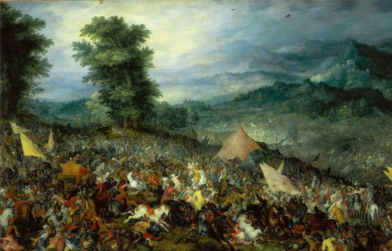 Jan Brueghel the elder -- Battle of Issus. Part 3 Louvre