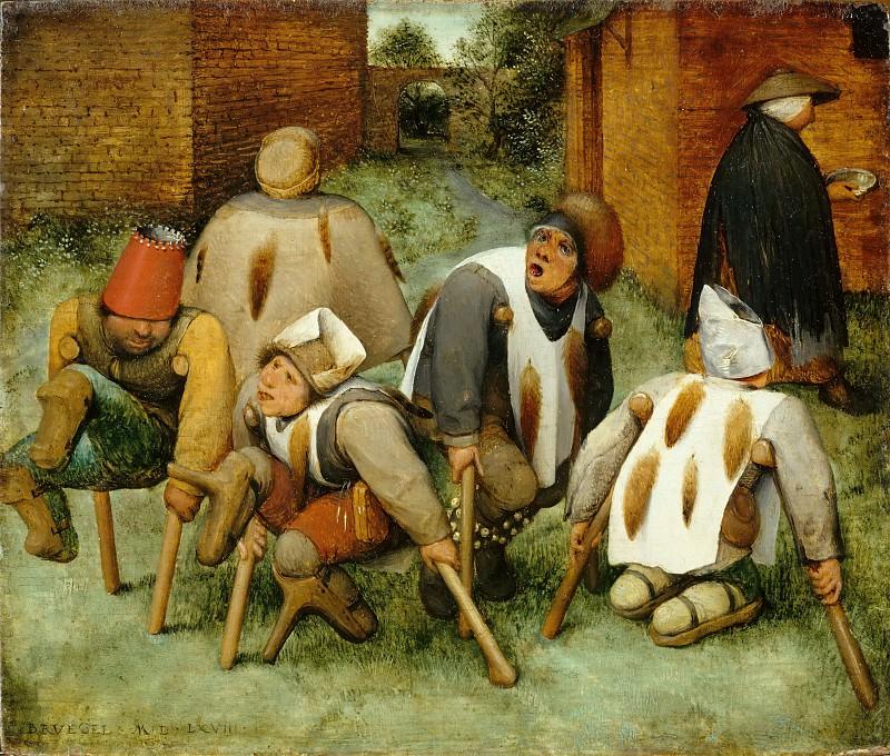 Брейгель, Питер I (ок1525 Брейгель, - 1569 Брюссель) -- Калеки. часть 3 Лувр