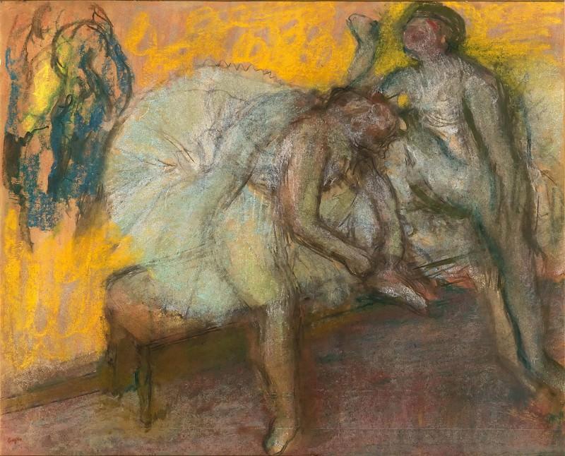 Edgar Degas -- Two dancers in repose. Part 3 Louvre
