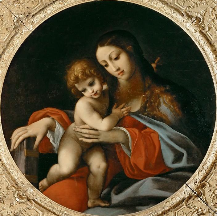 Карраччи, Лодовико (Болонья 1555-1619) -- Мадонна с младенцем. часть 3 Лувр