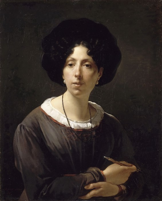 Antoine Cécile Hortense Haudebourt-Lescot, Self-Portrait, 1825 -- Oil on canvas. Part 3 Louvre