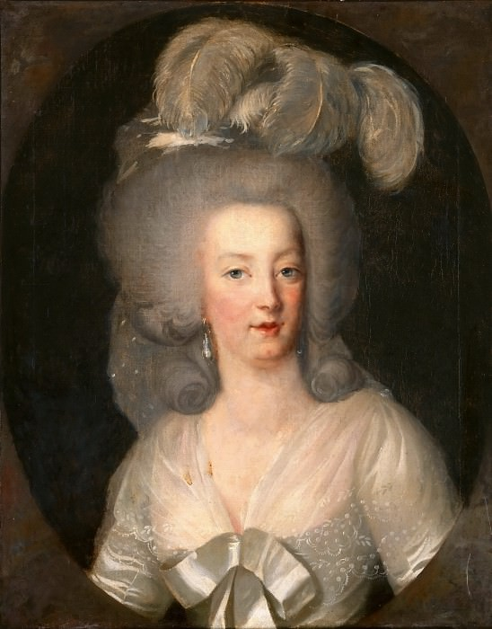 Anonymous French painter -- Portrait of Marie Antoinette. Part 3 Louvre