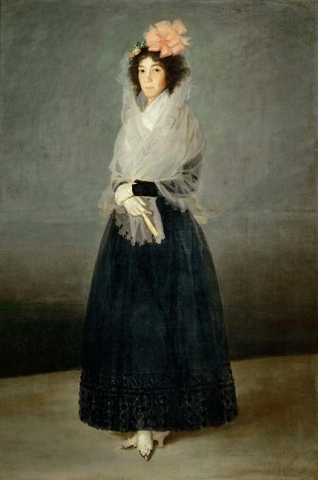 Goya y Lucientes, Francisco Jose de -- The countess del Carpio, marquesa de la Solana (Maria Rita Barrenechea, 1757-1795) Painted ca. 1795, the year of her death. Canvas, 181 x 122 cm R.F. 1942-23. Part 3 Louvre