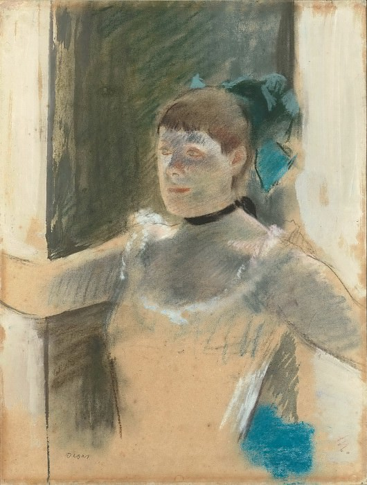 Edgar Degas -- Study of a chanteuse (Spanish dancer). Part 3 Louvre