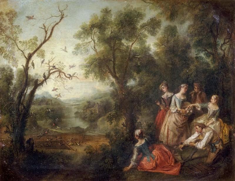 Nicolas Lancret -- Spring. Part 3 Louvre