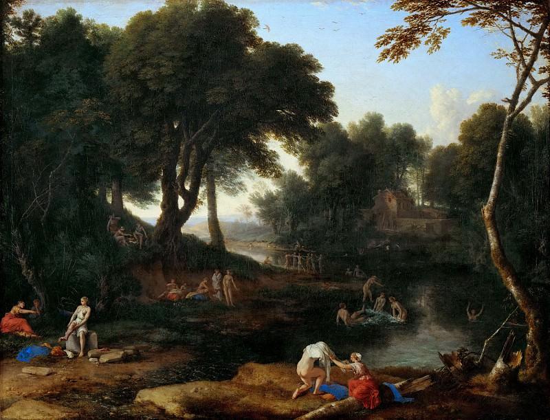 Laurent de La Hyre (1606-1656) -- Landscape with Bathers. Part 3 Louvre