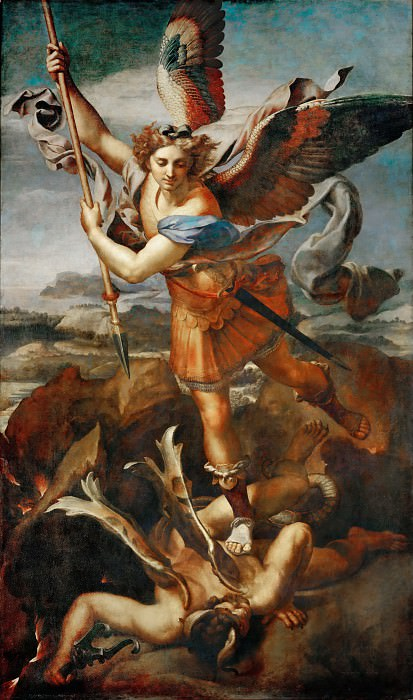 Saint Michael and the Devil. Raffaello Sanzio da Urbino) Raphael (Raffaello Santi
