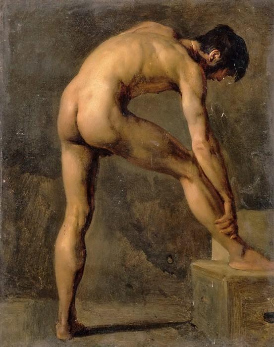 Achille Etna Michallon -- Study of a man. Part 3 Louvre