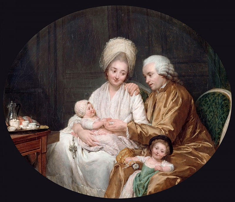 Nicolas Bernard Lépicié -- Portrait of Marc-Etienne Quatremère and his family. Part 3 Louvre