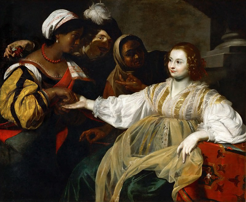 Nicolas Regnier (c. 1590-1667) -- The Fortune Teller. Part 3 Louvre