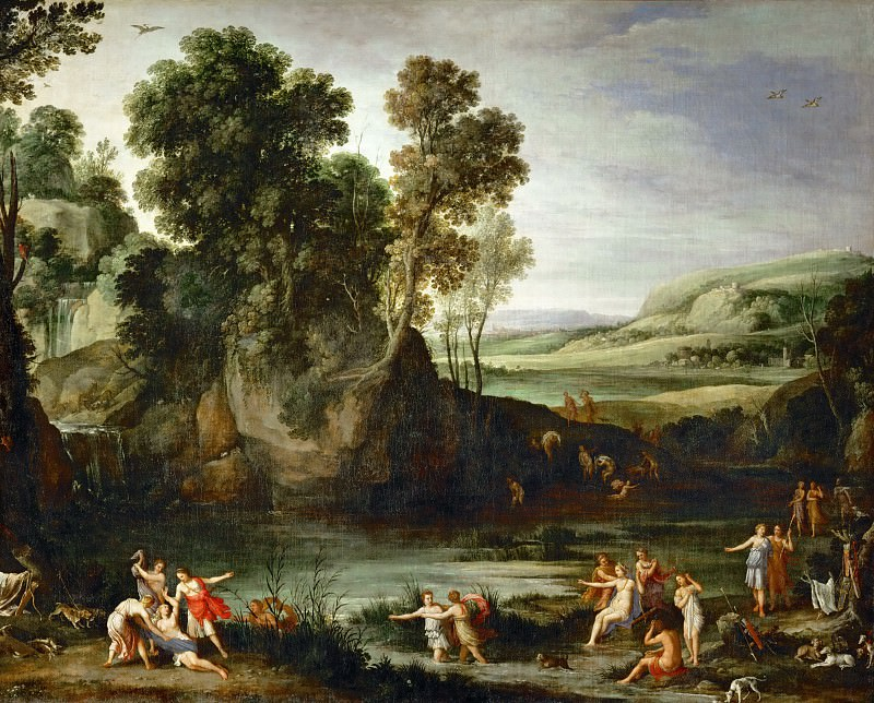 Paul Bril (1554-1626) -- Diana Discovering the Pregnancy of Callisto. Part 3 Louvre