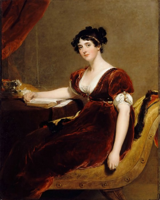 Thomas Lawrence -- Mrs. Isaac Cuthbert. Part 3 Louvre