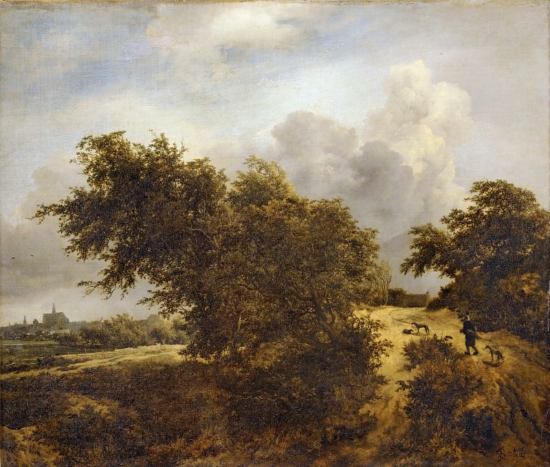 Jacob van Ruisdael (1628 or 1629-1682) -- Road in the Dunes of Haarlem, or The Shrub. Part 3 Louvre