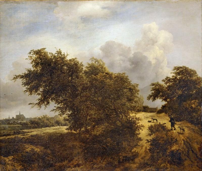 Jacob van Ruisdael (1628 or 1629-1682) -- Road in the Dunes of Haarlem, or The Shrub. Part 3 Louvre