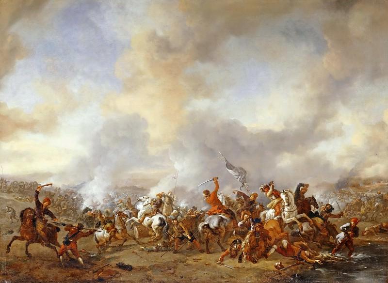 Вауэрман, Филипс (Харлем 1619-1668) -- Кавалерийское сражение. часть 3 Лувр