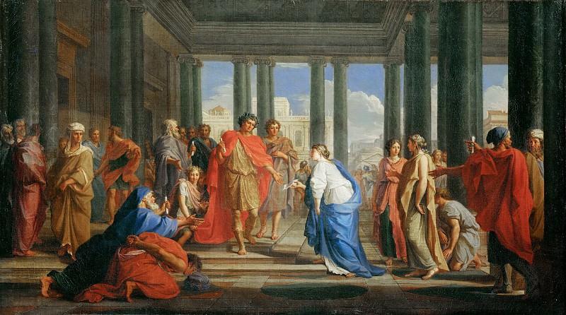 Куапель, Ноэль (Париж 1628-1707) -- Император Траян на публичной аудиенции. часть 3 Лувр