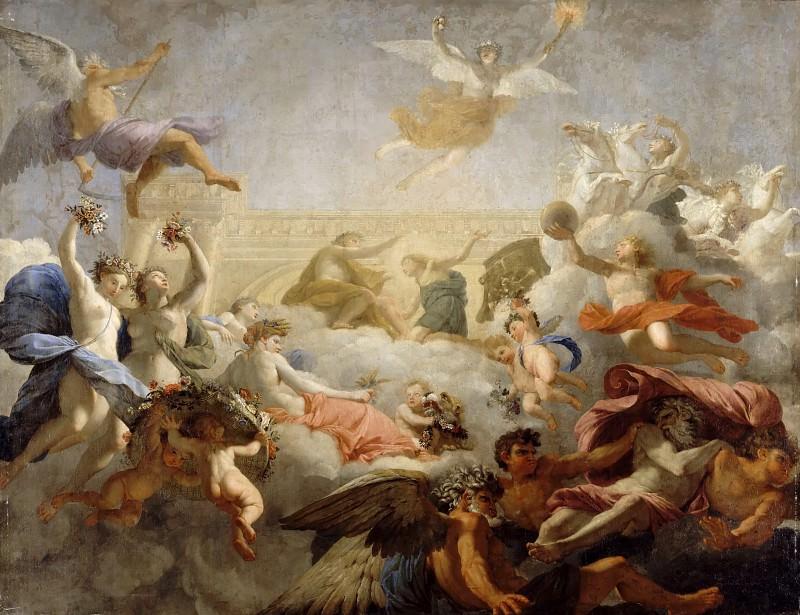 Eustache Le Sueur -- Phaeton asks Apollo to drive the Chariot of the Sun. Part 3 Louvre