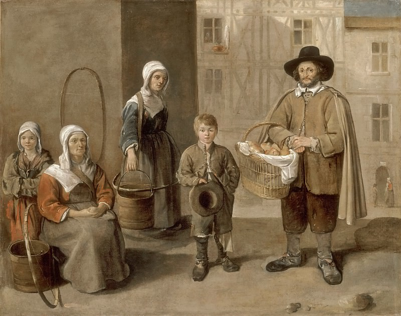 Jean Michelin -- Bread merchants and water carriers. Part 3 Louvre