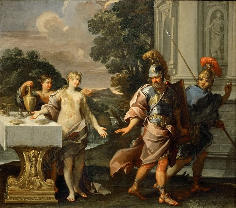 Giuseppe Passeri (1654-1714) -- Armida and the Companions of Renaud. Part 3 Louvre