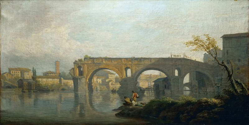 Claude-Joseph Vernet -- The Ponte Rotto in Rome. Part 3 Louvre