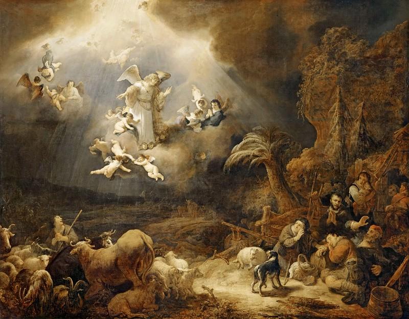 Govaert Flinck -- Annunciation to the Shepherds. Part 3 Louvre