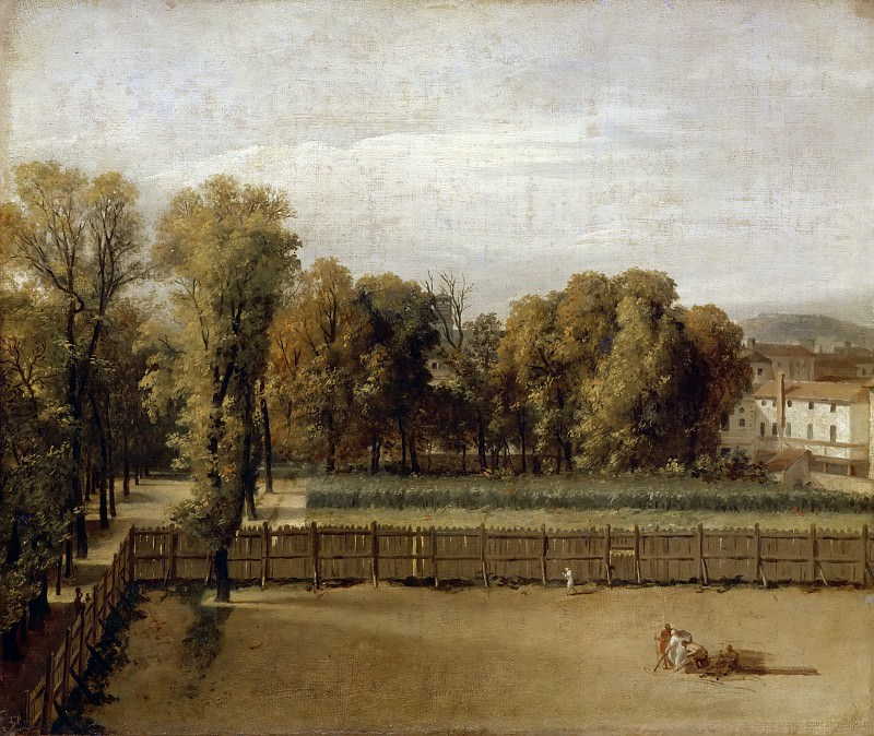 View of the Luxemburg Garden in Paris. Jacques-Louis David