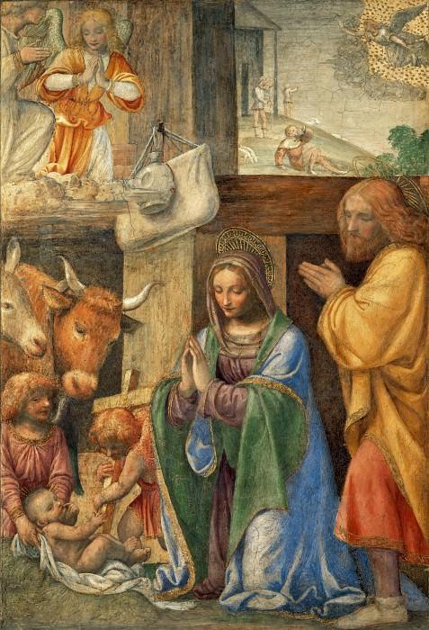 Bernardino Luini -- Nativity and Adoration of the Shepherds. Part 3 Louvre