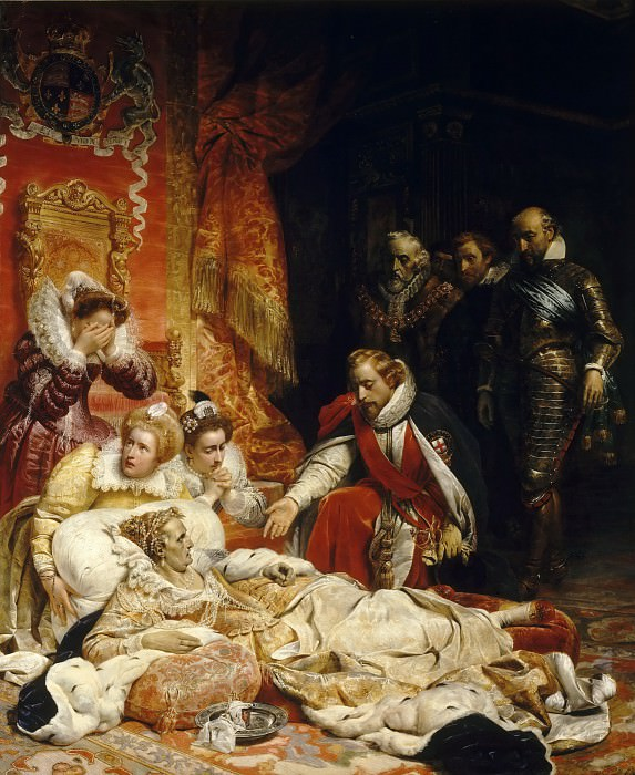 Paul Delaroche -- Death of Elizabeth, Queen of England, in 1603. Part 3 Louvre