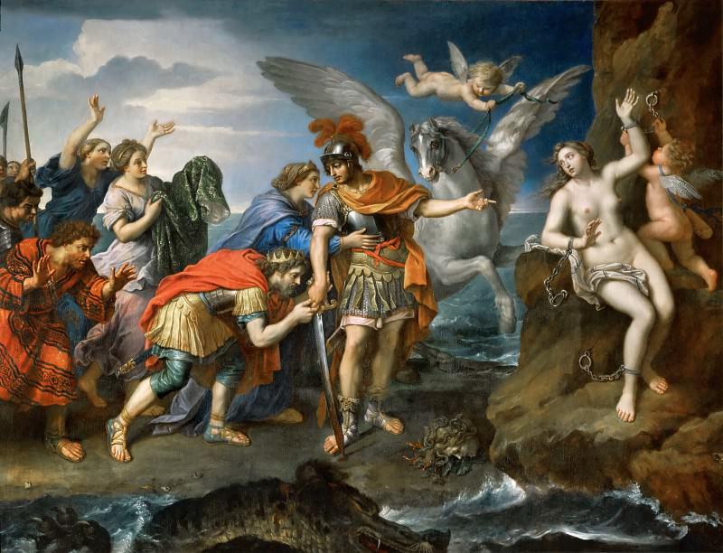 Pierre Mignard I -- Deliverance of Andromeda. Part 3 Louvre