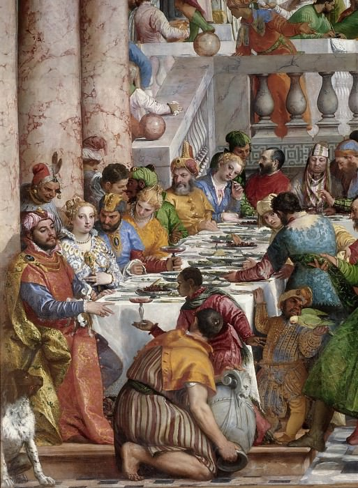 Paolo Veronese -- Marriage Feast at Cana. Part 3 Louvre