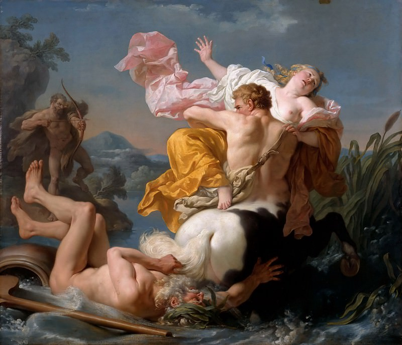 Louis Jean François Lagrenée -- Abduction of Dejanire by the Centaur Nessus. Part 3 Louvre