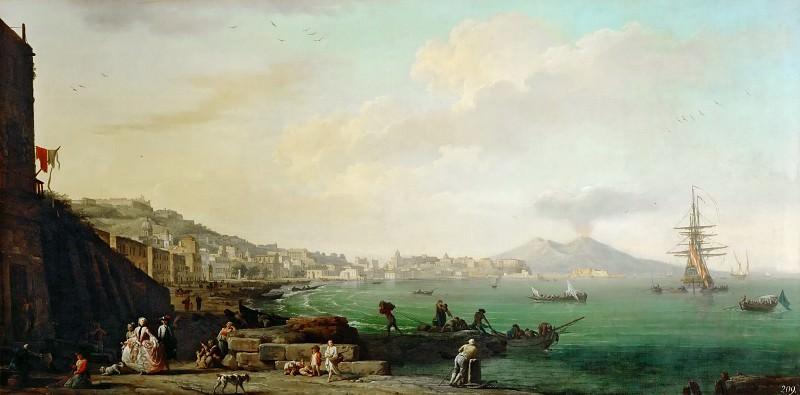Claude-Joseph Vernet -- View of Naples with Mount Vesuvius. Part 3 Louvre