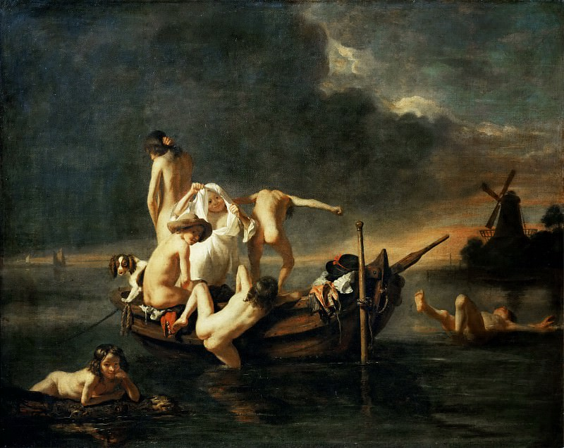 Nicolaes Maes -- The Bath. Part 3 Louvre