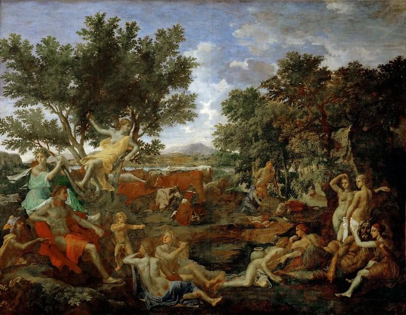 Пуссен, Никола (1594 лез-Андели - 1665 Рим) -- Аполлон и Дафна. часть 3 Лувр