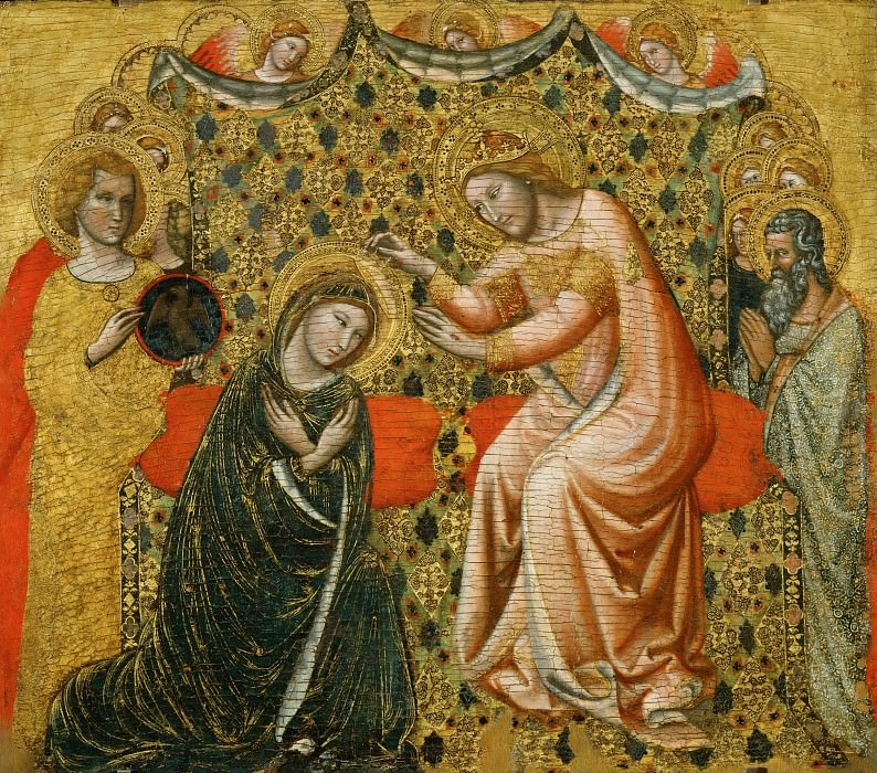 Vitale da Bologna -- Coronation of the Virgin. Part 3 Louvre