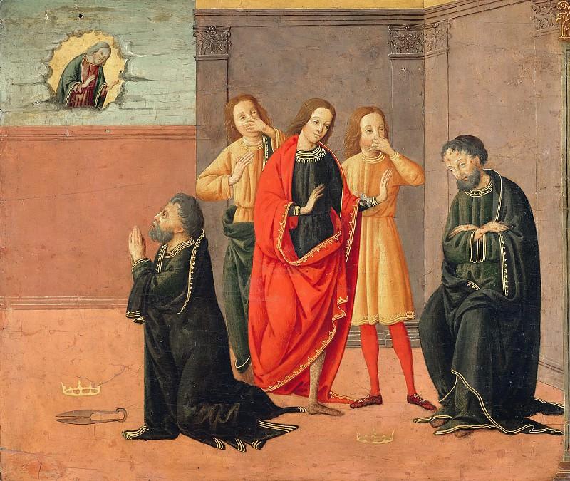Florentine school (15cent) - The story of Job. Part 2