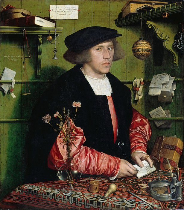 Hans Holbein II (1497-1543) - The Merchant Georg Gisze (1497-1562). Part 2