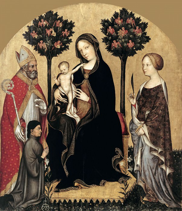 Gentile da Fabriano (c.1370-1427) - Enthroned Madonna with Child and Saints. Part 2