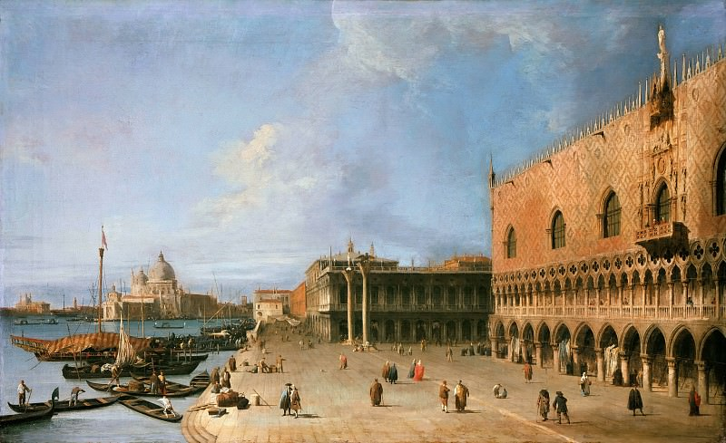 Canaletto (1697-1768) - The molo in front of the Doge. Part 2