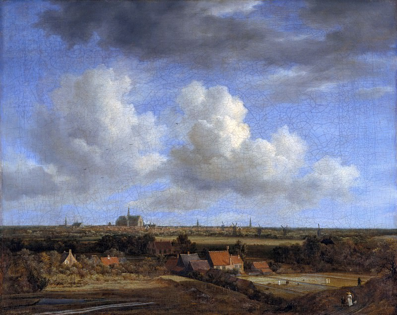 Jacob van Ruisdael (1628-29-1682) - Haarlem seen from the dunes in the northwest. Part 2